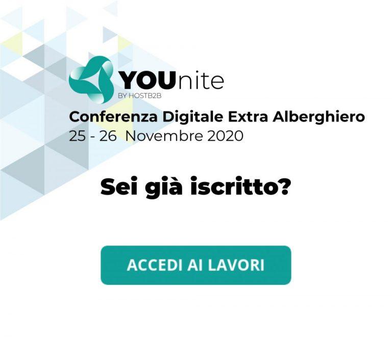 Al via YOUnite, la conferenza digitale sull'extralberghiero